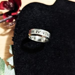 New Stainless Steel Roman Numeral Ring